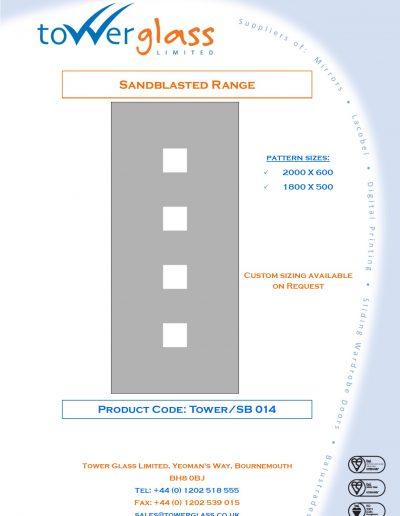 Designs on Letterheads Sandblast Range pg14