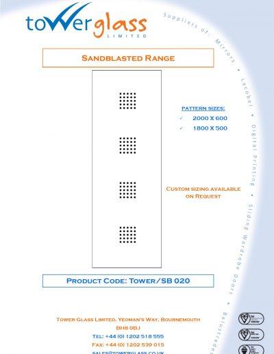 Designs on Letterheads Sandblast Range pg20