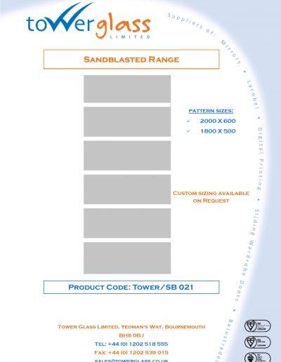 Designs on Letterheads Sandblast Range pg21