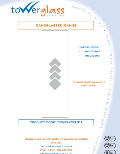 Designs on Letterheads Sandblast Range pg11