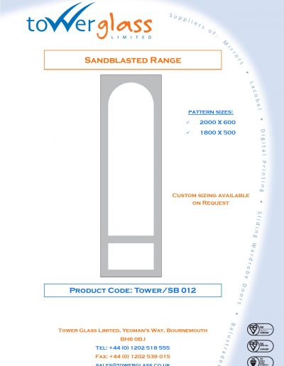 Designs on Letterheads Sandblast Range pg12