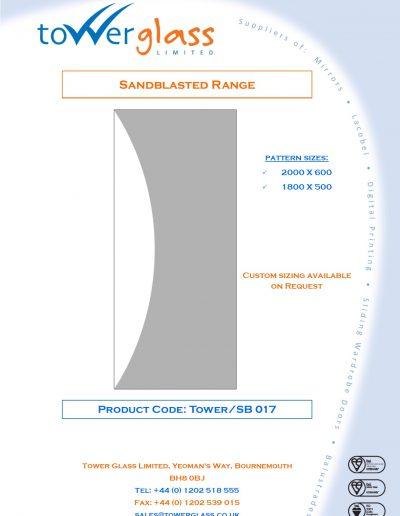 Designs on Letterheads Sandblast Range pg17