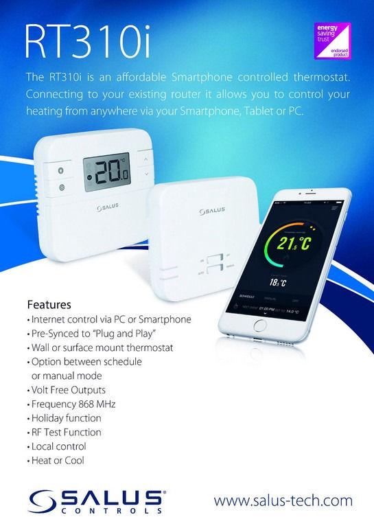 RT310i smart heating controls